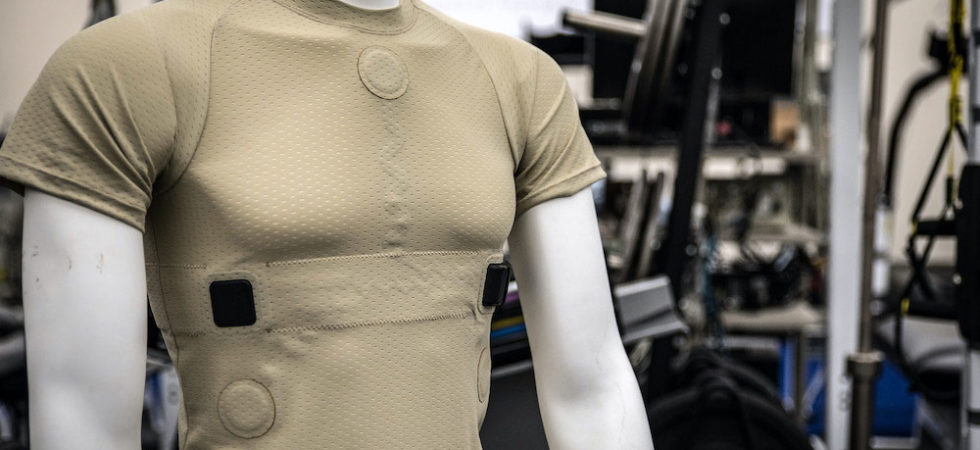 smart shirt which monitors hear rate and body vitals